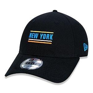 Boné New Era New York Yankees 940 Strip City Aba Curva Preto