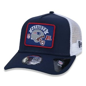 Boné New Era New England Patriots 940 Wordmark Trucker