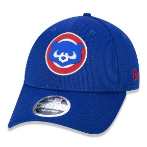 Boné New Era Chicago Cubs 940 Club House Azul Aba Curva