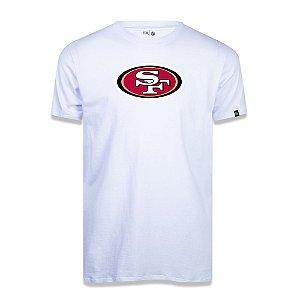 Camiseta New Era San Francisco 49ers Logo Time NFL Branco