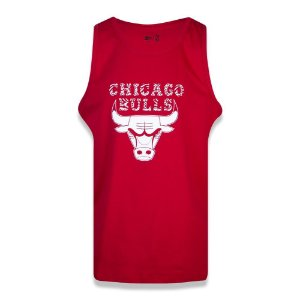 Regata New Era Chicago Bulls Fresh Wild NBA Vermelho