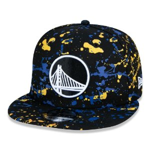 Boné New Era Golden State Warriors 950 Paint Splatter Preto