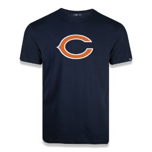Camiseta New Era Chicago Bears Logo Time NFL Azul Marinho