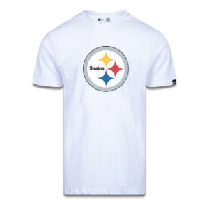 Camiseta New Era Pittsburgh Steelers Logo Time NFL Branco