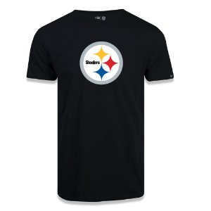 Camiseta New Era Pittsburgh Steelers Logo Time NFL Preto