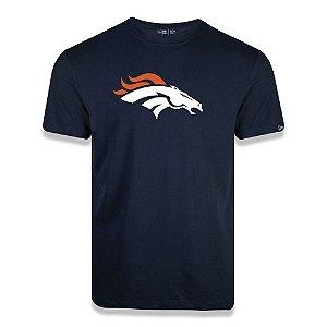Camiseta New Era Denver Broncos Logo Time NFL Azul Marinho