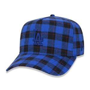 Boné New Era Los Angeles Dodgers 940 A-Frame Plaid Xadrez