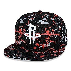 Boné New Era Houston Rockets 950 Paint Splatter Aba Reta NBA