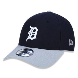 Boné New Era Detroit Tigers 940 Team Color Aba Curva Cinza
