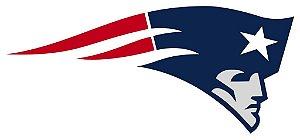 Adesivo New England Patriots NFL - Vinil Brilho 15x7cm