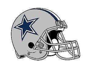 Adesivo Dallas Cowboys NFL - Vinil Brilho 15x12cm