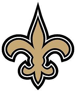 Adesivo New Orleans Saints NFL - Vinil Brilho 12x15cm