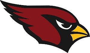Adesivo Arizona Cardinals NFL - Vinil Brilho 15x9cm