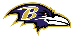 Adesivo Baltimore Ravens NFL - Vinil Brilho 15x8cm
