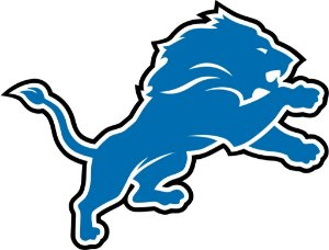 Adesivo Detroit Lions NFL - Vinil Brilho 15x11cm