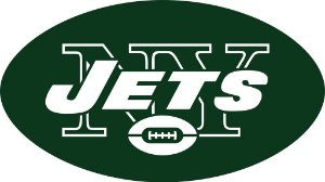 Adesivo New York Jets NFL - Vinil Brilho 15x9cm