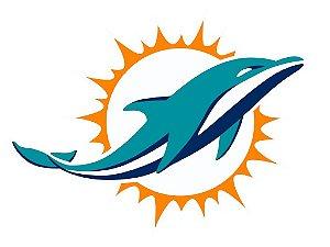 Adesivo Miami Dolphins NFL - Vinil Brilho 15x11cm