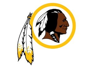 Adesivo Washington Redskins NFL - Vinil Brilho 14x15cm