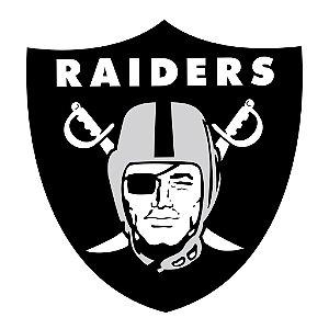 Adesivo Oakland Raiders NFL - Vinil Brilho 15x15cm
