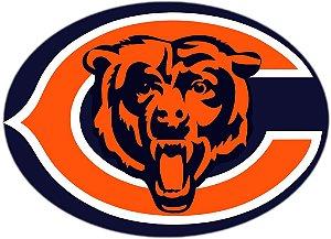 Adesivo Chicago Bears NFL - Vinil Brilho 15x11cm
