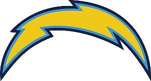 Adesivo San Diego Chargers NFL - Vinil Brilho 15x8cm