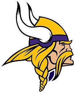 Adesivo Minnesota Vikings NFL - Vinil Brilho 12x15cm