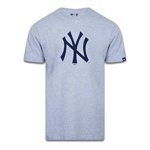 Camiseta New Era New York Yankees Basica Tri Cinza Mescla