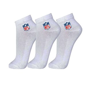 Meia Masculina Cano Curto NFL Color Pack 3 Pares Cinza