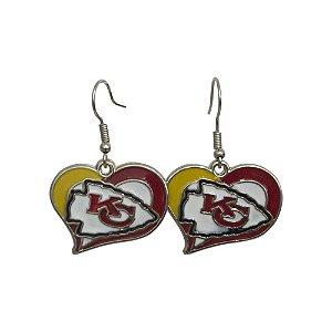 Brinco Kansas City Chiefs NFL C/ Pingente Coração