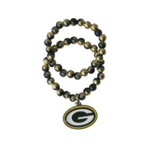 Pulseira Green Bay Packers NFL Dupla C/ Pingente Metálico