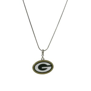 Colar Green Bay Packers NFL C/ Pingente Metálico