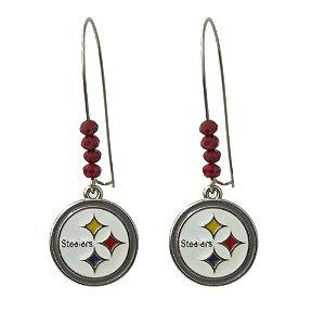 Brinco Pittsburgh Steelers NFL C/ Pingente Metálico