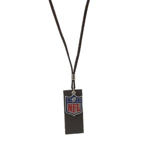 Colar NFL Cordão Marrom C/ Pingente Metálico