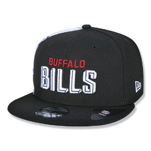 Boné New Era Buffalo Bills 950 Draft Font Aba Reta Preto