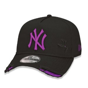 Boné New Era New York Yankees 940 Damage Destroyed Preto