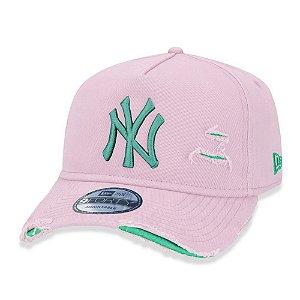 Boné New Era New York Yankees 940 Damage Destroyed Rosa
