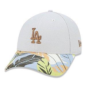 Boné New Era Los Angeles Dodgers 940 Summer Tropical Cinza