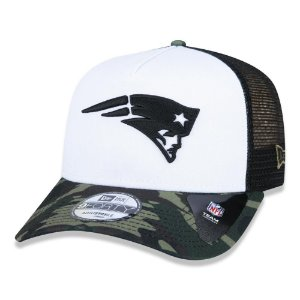 Boné New Era New England Patriots 940 A-Frame Military Full
