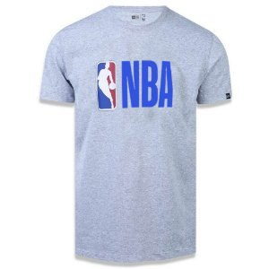 Camiseta New Era NBA Basic Logo Cinza