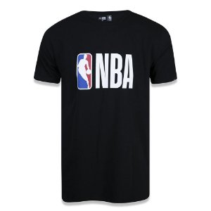 Camiseta New Era NBA Basic Logo Preto
