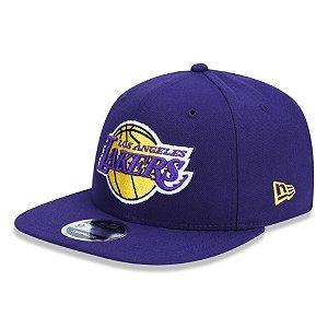 Boné New Era Los Angeles Lakers 950 Primary Aba Reta Roxo