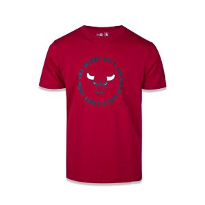 Camiseta New Era Chicago Bulls NBA Team Circle Vermelho