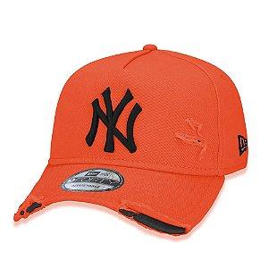 Boné New Era New York Yankees 940 Damage Destroyed Laranja