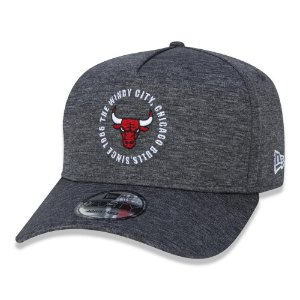 Boné New Era Chicago Bulls 940 A-Frame Team Circles Cinza