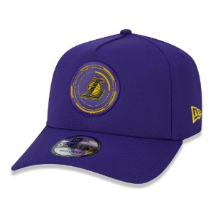 Boné New Era Los Angeles Lakers 940 A-Frame Tech Power Roxo