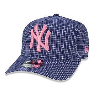 Boné New Era New York Yankees 940 A-Frame Space Plaid Roxo