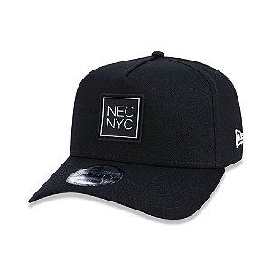 Boné New Era NYC Preto 940 A-Frame SN Veranito - aba curva