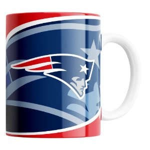 Caneca NFL NEW ENGLAND PATRIOTS de Porcelana 325ml