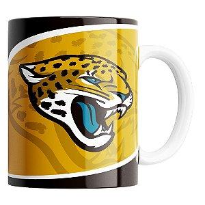 Caneca NFL  Jacksonville Jaguars de Porcelana 325ml