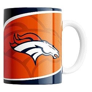Caneca NFL Denver Broncos de Porcelana 325ml